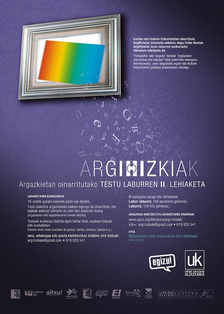 argIHIzkiak lehiaketaren kartela / 2013