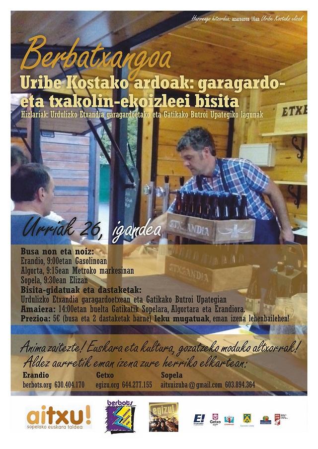 Uribe Kostako ardoak: garagardoak eta txakolinak