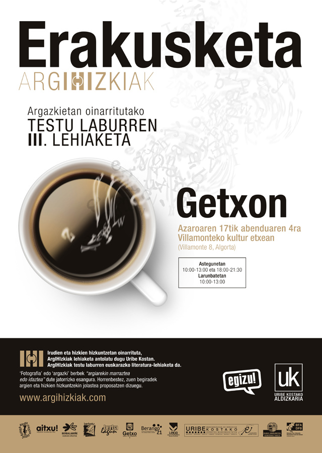 argIHIzkiak testu laburren erakusketa Getxon
