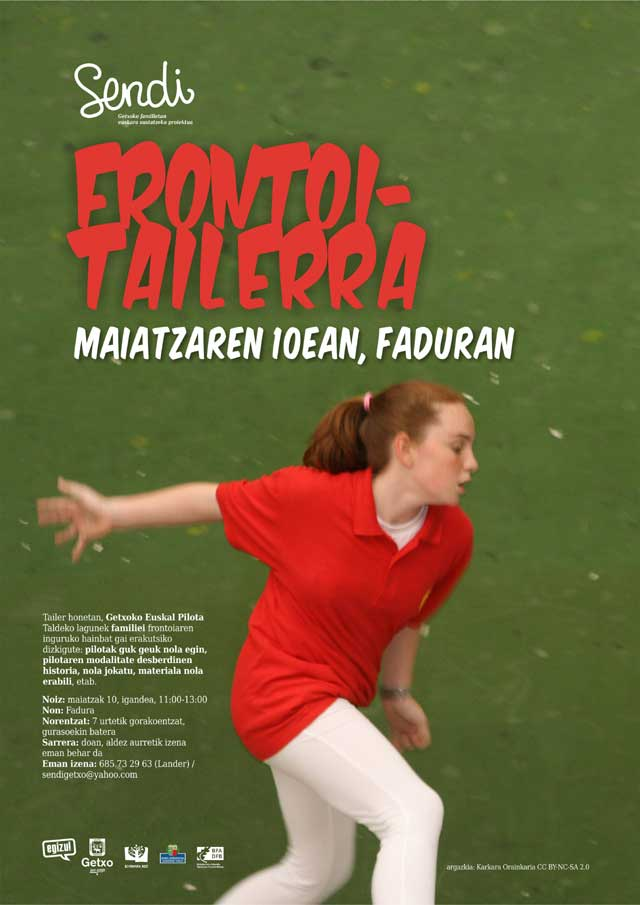 Frontoi-tailerra maiatzaren 10ean Faduran