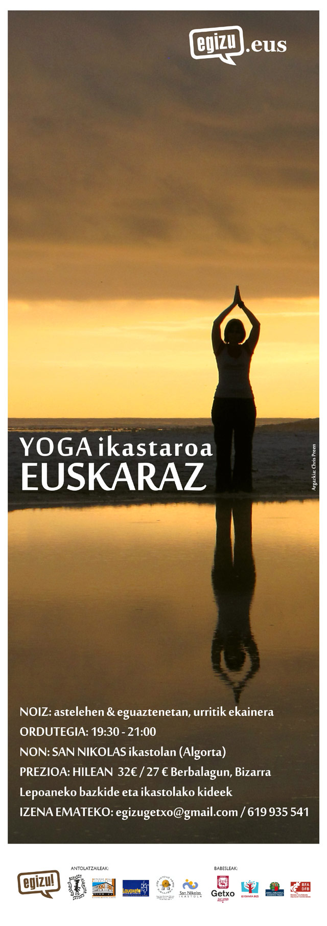 Yoga ikastaroa euskaraz San Nikolas ikastolan