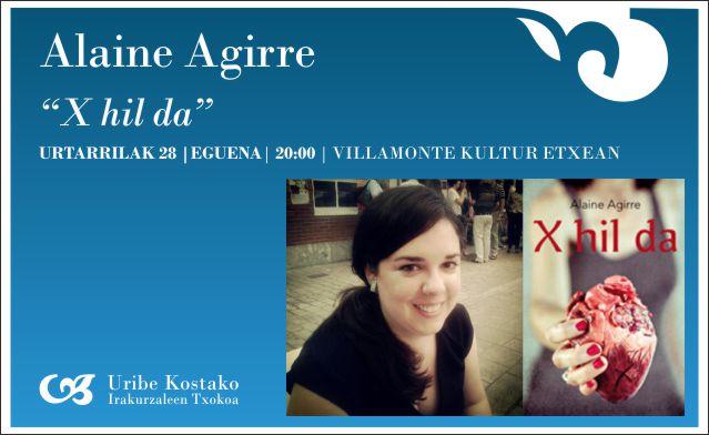 Alaine Agirre, gaur, 20:00etan Villamonten