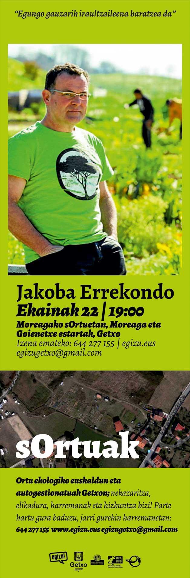 Jakoba Errekondo sOrtuak ekimeneko ortuetan ekainaren 22an