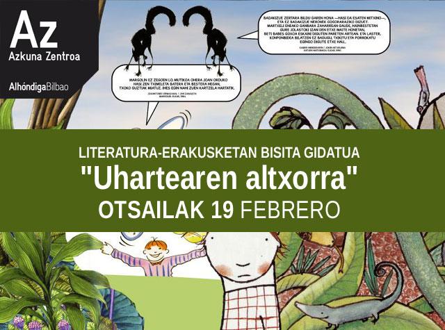 """""""Uhartearen altxorra"""" haur eta gazte literatura erakusketa"""
