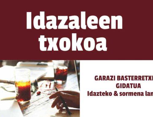 IdaZaleen Txokoa : Idazteko & Sormena euskaraz lantzeko tailerra prest!