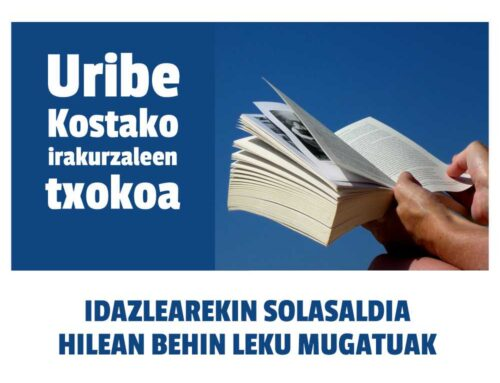 Uribe Kostako irakurzaleen txokoa prest!